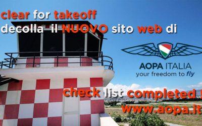 Cleared for takeoff! Decolla il nuovo sito web di AOPA Italia!