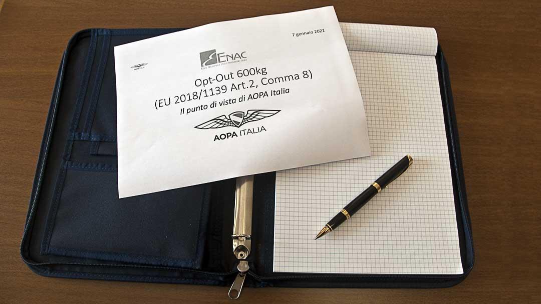 Riunione ENAC stakeholder implementazione 600Kg – 7 Gennaio 2021