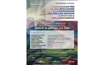 AOPA Italia partecipa a Palazzo Madama alla presentazione della Legge Quadro per la valorizzazione e la promozione  del VDS e dell'avioturismo