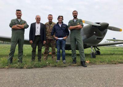 Pino Di Feo, Rinaldo Gaspari e l'equipaggio AM di Guidonia